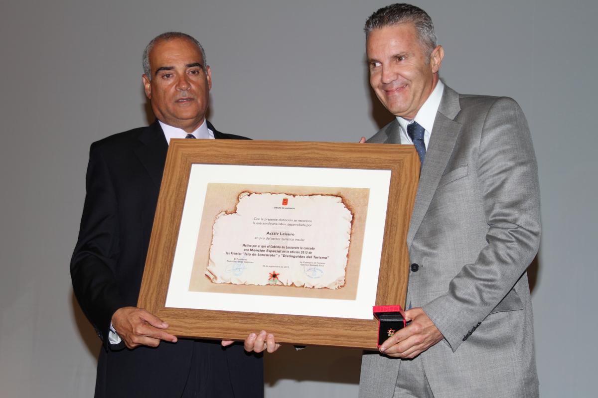 """Mención especial en los """"Premios Isla de Lanzarote y Distinguidos del Turismo 2013"""""""